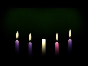 Christmas Eve Advent Candles